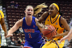 NCAA Women's Basketball AAC Tournament 1st Round #8 ECU 50 vs. #9 SMU 48 (44)