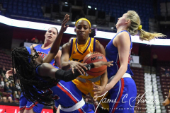 NCAA Women's Basketball AAC Tournament 1st Round #8 ECU 50 vs. #9 SMU 48 (45)