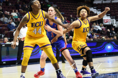 NCAA Women's Basketball AAC Tournament 1st Round #8 ECU 50 vs. #9 SMU 48 (53)