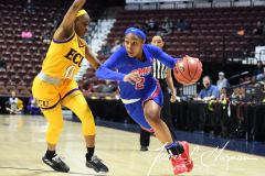 NCAA Women's Basketball AAC Tournament 1st Round #8 ECU 50 vs. #9 SMU 48 (58)