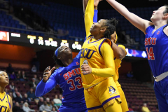 NCAA Women's Basketball AAC Tournament 1st Round #8 ECU 50 vs. #9 SMU 48 (77)
