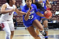 NCAA Women's Basketball AAC Tournament - #6 Temple 58 vs #11 Memphis 59 (43)