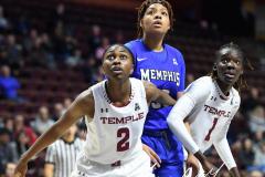NCAA Women's Basketball AAC Tournament - #6 Temple 58 vs #11 Memphis 59 (50)