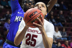 NCAA Women's Basketball AAC Tournament - #6 Temple 58 vs #11 Memphis 59 (59)