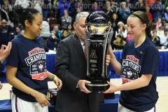 NCAA Women's Basketball - AAC Tournament Finals - #1 UConn 100 vs. #3 USF 44 (198)
