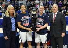 NCAA Women's Basketball - AAC Tournament Finals - #1 UConn 100 vs. #3 USF 44 (199)