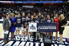 NCAA Women's Basketball - AAC Tournament Finals - #1 UConn 100 vs. #3 USF 44 (201)