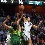 NCAA Women's Basketball - AAC Tournament Finals - #1 UConn 100 vs. #3 USF 44 (72)