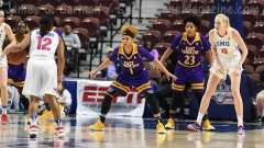 NCAA Women's Basketball - AAC Tournament FR - #6 SMU 60 vs. #11 East Carolina 54 - Photo# (12)