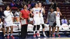NCAA Women's Basketball - AAC Tournament FR - #6 SMU 60 vs. #11 East Carolina 54 - Photo# (74)