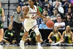 NCAA Women's Basketball AAC Tournament Semifinals - #1 UConn 81 vs. #5 USF 45 (100)