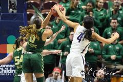 NCAA Women's Basketball AAC Tournament Semifinals - #1 UConn 81 vs. #5 USF 45 (104)