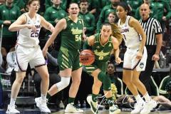 NCAA Women's Basketball AAC Tournament Semifinals - #1 UConn 81 vs. #5 USF 45 (105)