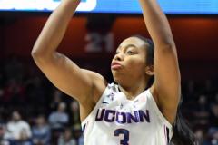 NCAA Women's Basketball AAC Tournament Semifinals - #1 UConn 81 vs. #5 USF 45 (121)