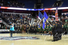 NCAA Women's Basketball AAC Tournament Semifinals - #1 UConn 81 vs. #5 USF 45 (17)