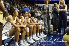 NCAA Women's Basketball AAC Tournament Semifinals - #1 UConn 81 vs. #5 USF 45 (18)