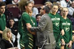 NCAA Women's Basketball AAC Tournament Semifinals - #1 UConn 81 vs. #5 USF 45 (29)