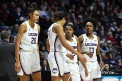 NCAA Women's Basketball AAC Tournament Semifinals - #1 UConn 81 vs. #5 USF 45 (36)