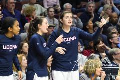 NCAA Women's Basketball AAC Tournament Semifinals - #1 UConn 81 vs. #5 USF 45 (42)