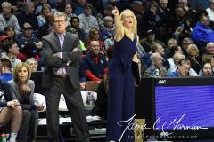 NCAA Women's Basketball AAC Tournament Semifinals - #1 UConn 81 vs. #5 USF 45 (43)