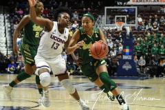 NCAA Women's Basketball AAC Tournament Semifinals - #1 UConn 81 vs. #5 USF 45 (46)