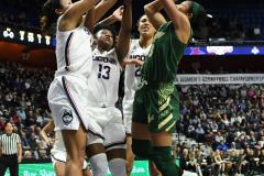 NCAA Women's Basketball AAC Tournament Semifinals - #1 UConn 81 vs. #5 USF 45 (47)