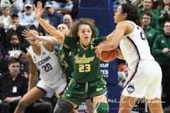 NCAA Women's Basketball AAC Tournament Semifinals - #1 UConn 81 vs. #5 USF 45 (48)