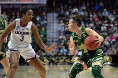 NCAA Women's Basketball AAC Tournament Semifinals - #1 UConn 81 vs. #5 USF 45 (50)