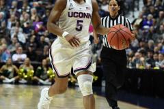 NCAA Women's Basketball AAC Tournament Semifinals - #1 UConn 81 vs. #5 USF 45 (86)