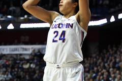 NCAA Women's Basketball AAC Tournament Semifinals - #1 UConn 81 vs. #5 USF 45 (87)