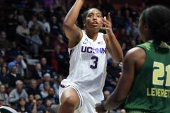 NCAA Women's Basketball AAC Tournament Semifinals - #1 UConn 81 vs. #5 USF 45 (90)