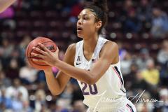 NCAA Women's Basketball AAC Tournament Semifinals - #1 UConn 81 vs. #5 USF 45 (91)