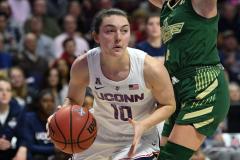 NCAA Women's Basketball AAC Tournament Semifinals - #1 UConn 81 vs. #5 USF 45 (92)