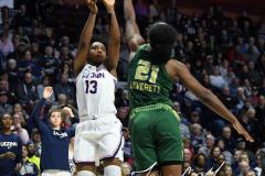 NCAA Women's Basketball AAC Tournament Semifinals - #1 UConn 81 vs. #5 USF 45 (94)