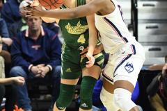 NCAA Women's Basketball AAC Tournament Semifinals - #1 UConn 81 vs. #5 USF 45 (96)