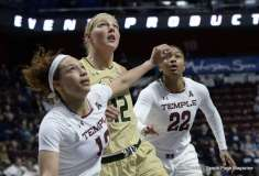 Gallery NCAA Women's Basketball; AAC Tournament SF's - #2 Temple 58 vs. #3 USF 63 (88)