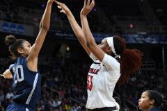 NCAA Women's Basketball Albany Regional Finals - #1 Louisville 73 vs. #2 UConn 80 (102)