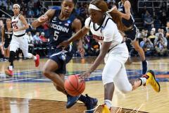 NCAA Women's Basketball Albany Regional Finals - #1 Louisville 73 vs. #2 UConn 80 (103)