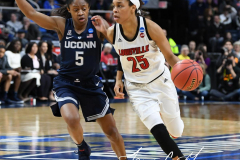 NCAA Women's Basketball Albany Regional Finals - #1 Louisville 73 vs. #2 UConn 80 (108)
