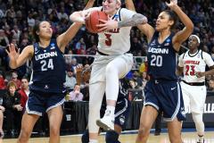 NCAA Women's Basketball Albany Regional Finals - #1 Louisville 73 vs. #2 UConn 80 (112)