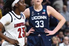 NCAA Women's Basketball Albany Regional Finals - #1 Louisville 73 vs. #2 UConn 80 (142)
