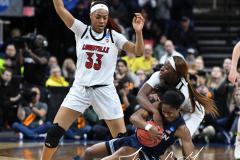 NCAA Women's Basketball Albany Regional Finals - #1 Louisville 73 vs. #2 UConn 80 (145)