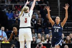 NCAA Women's Basketball Albany Regional Finals - #1 Louisville 73 vs. #2 UConn 80 (35)