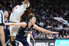 NCAA Women's Basketball Albany Regional Finals - #1 Louisville 73 vs. #2 UConn 80 (83)