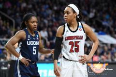NCAA Women's Basketball Albany Regional Finals - #1 Louisville 73 vs. #2 UConn 80 (87)