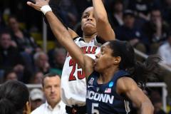 NCAA Women's Basketball Albany Regional Finals - #1 Louisville 73 vs. #2 UConn 80 (91)