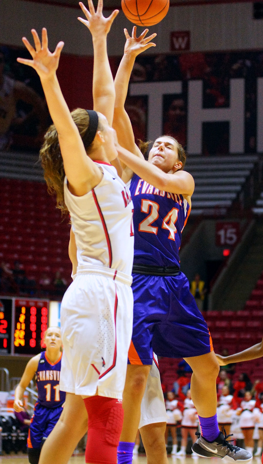 basketball ball vs ncaa state evansville womens sports arena indiana magazine comments muncie