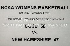 Gallery NCAA Womens Basketball: CCSU 56 vs. New Hampshire 47