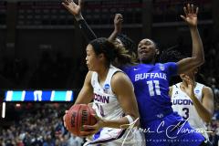 NCAA Women's Basketball Championship Second Round - #2 UConn 84 vs. #10 Buffalo 72 (102)