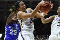 NCAA Women's Basketball Championship Second Round - #2 UConn 84 vs. #10 Buffalo 72 (107)